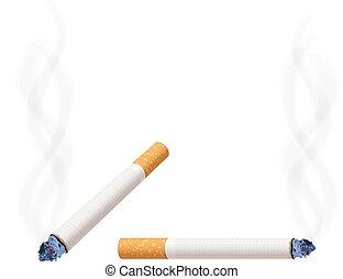 burning cigarette