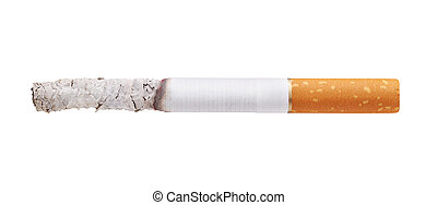 cigarette  - burning cigarette isolated on white background