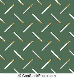 Burning Cigarette Seamless Pattern