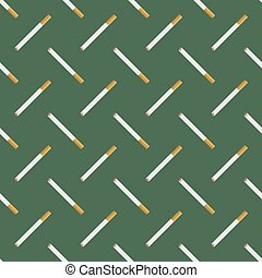 Burning Cigarette Seamless Pattern