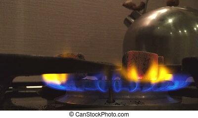 Burning coals for hookah.