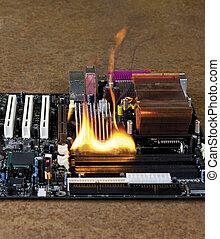 burning computer main board