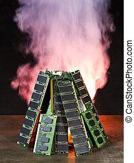 burning computer memory
