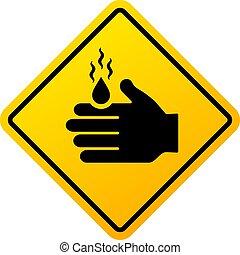 Burning danger vector sign isolated on white background