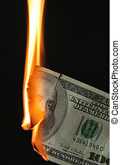 Burning dollars
