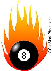 Burning Eight-Ball