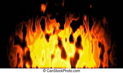 Burning fire seamless loop video