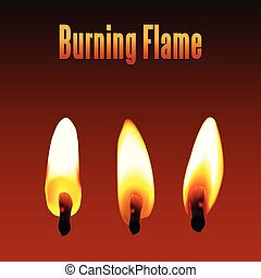 burning flame illustration vector