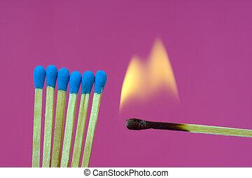 Burning Flame  Matchstick