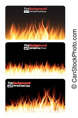 Burning Flame of Fire Banner. Vector Illustration