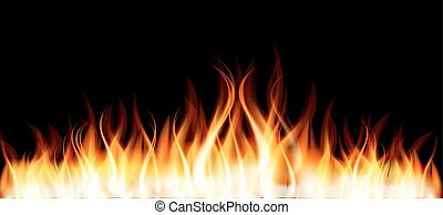 Burning Flame of Fire. Vector Illustration