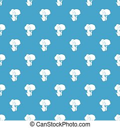 Burning forest trees pattern seamless blue