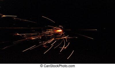 Burning Fuze Loop - FIRE016HD - Lit burning fuze to set off...