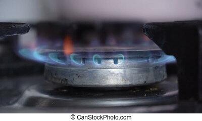 Burning gas closeup