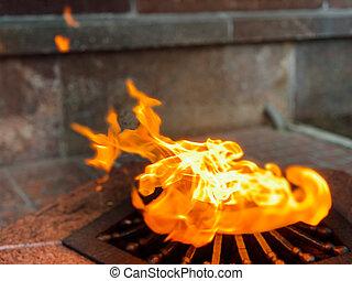 burning gas red fire memorial memory forever
