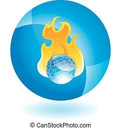 Burning Globe