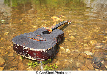 Burning guitar in the water. The crisis of the genre....