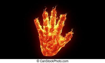 burning, hand