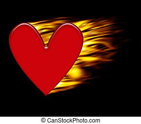 Burning heart background