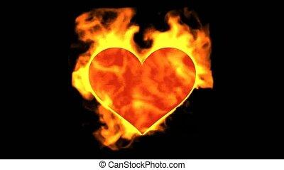 burning heart, valentine's day energy heart.