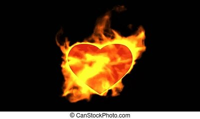 burning heart,valentine's day
