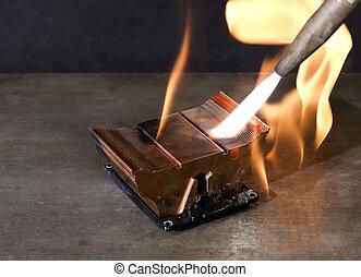 burning heat sink
