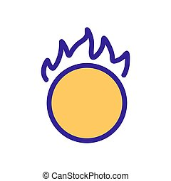 Burning hoop icon vector. Isolated contour symbol illustration
