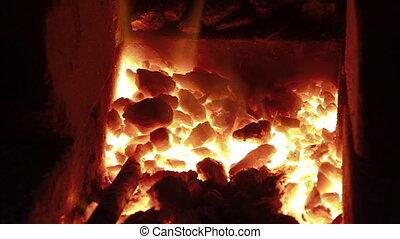 burning hot furnance