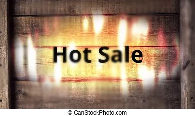 Burning hot sale inscription. Animation of a burning...