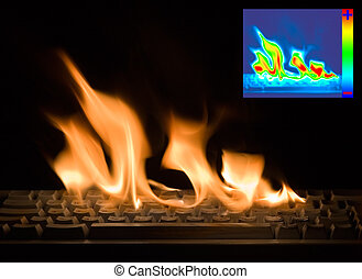 Burning Keyboard with Thermal Image