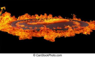 burning, klok