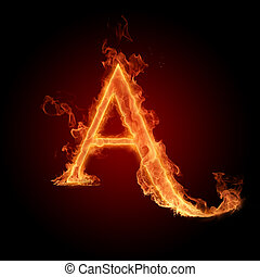 Burning Letter A