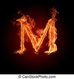Burning Letter M