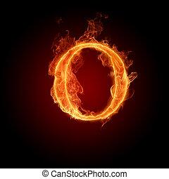 Burning Letter O