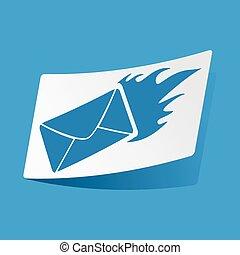 Burning letter sticker