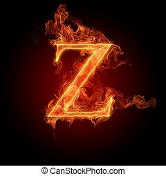 Burning Letter Z