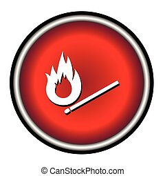 Burning match vector icon