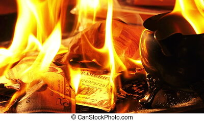 Burning Money on Fire