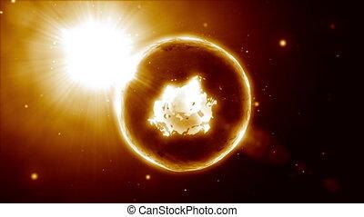 Burning mystical sphere