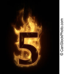 Burning number FIVE in hot fire