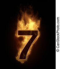 Burning number SEVEN in hot fire