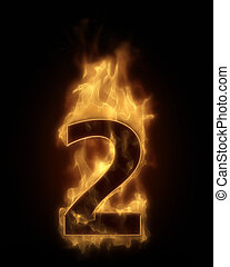 Burning number TWO in hot fire