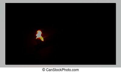 Burning of matches, installation