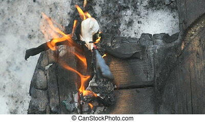 Burning of stuffed during Shrovetide carnival