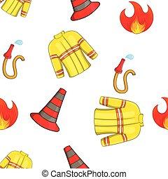 Burning pattern, cartoon style