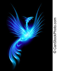 Burning phoenix - Beautiful Blue Burning Phoenix. ...