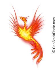 Burning phoenix - Raster version. Beautiful Burning Phoenix....