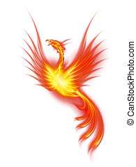 Burning phoenix - Raster version. Beautiful Burning Phoenix....