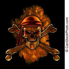 Burning Pirate Skull
