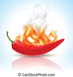 Burning Red Chili Pepper